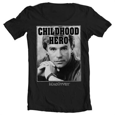Macgyver - Childhood Hero T-shirt collo largo