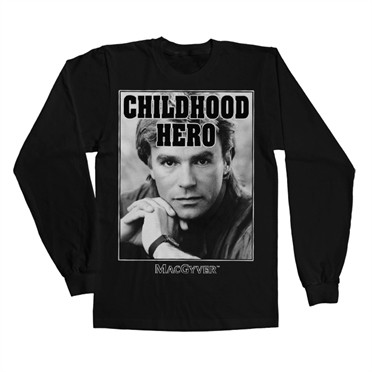 Macgyver - Childhood Hero Long Sleeve T-shirt