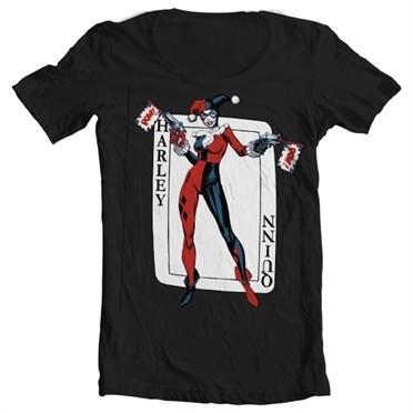 Harley Quinn Card Games T-shirt collo largo