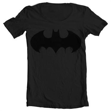 Batman Inked Logo T-shirt collo largo