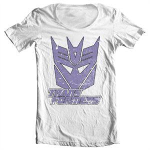 Retro Decepticon T-shirt collo largo