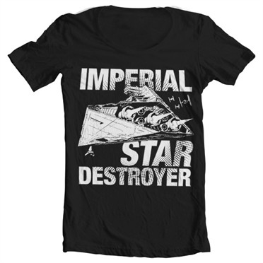 Imperial Star Destroyer T-shirt collo largo