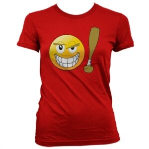 Emoji - Baseball Bat T-shirt donna