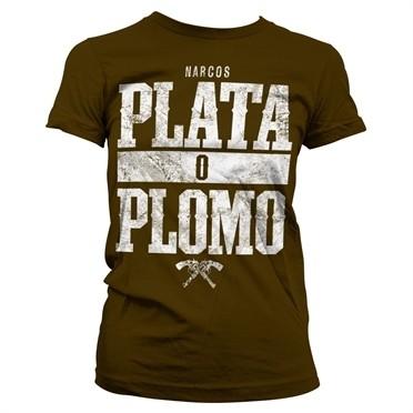 Narcos - Plata o Plomo T-shirt donna