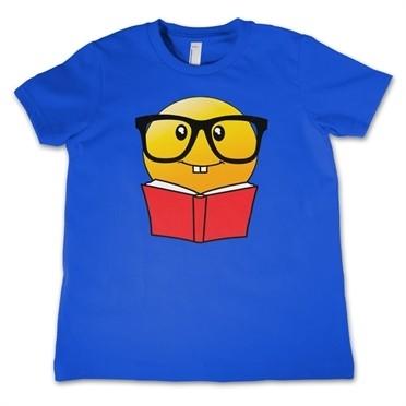 Emoji Reading Book T-shirt Bambino