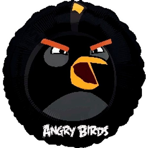 Palloncino in mylar Angry Birds Nero