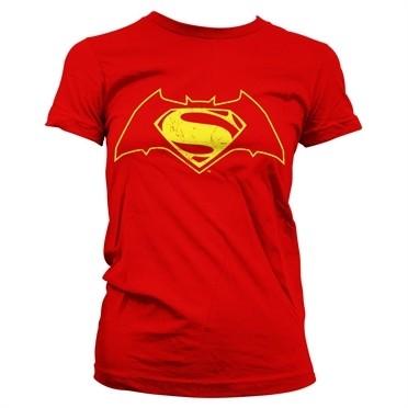Batman Vs Superman Logo T-shirt donna