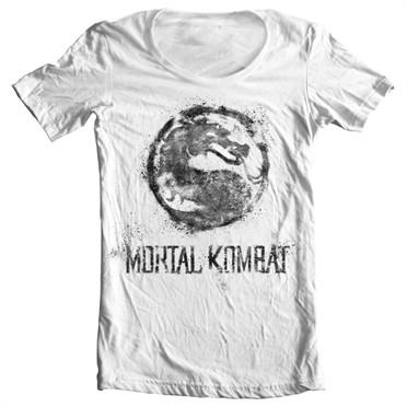 Mortal Kombat Dragon T-shirt collo largo