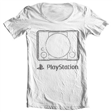 Playstation Console T-shirt collo largo