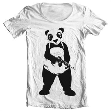Suicide Squad Panda T-shirt collo largo