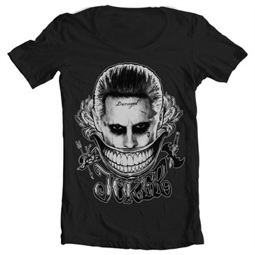Joker - Damaged T-shirt collo largo