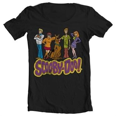 Team Scooby Doo Distressed T-shirt collo largo