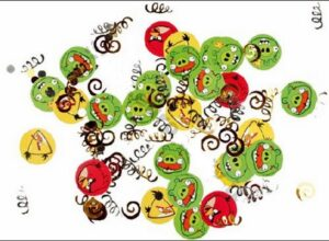 Coriandoli stampati per la tavola Angry Birds