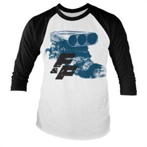 Fast & Furious Engine Baseball Long Sleeve T-shirt