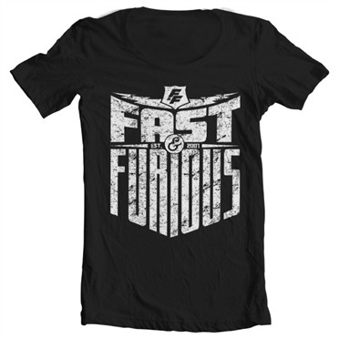 Fast & Furious - Est. 2007 T-shirt collo largo