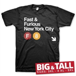 Fast & Furious NYC Big & Tall T-Shirt