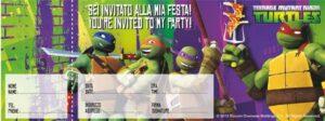 Carnet Inviti Festa Tartarughe Ninja