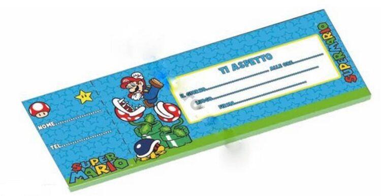 Carnet inviti festa Super Mario Bros