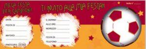Carnet inviti festa AS Roma