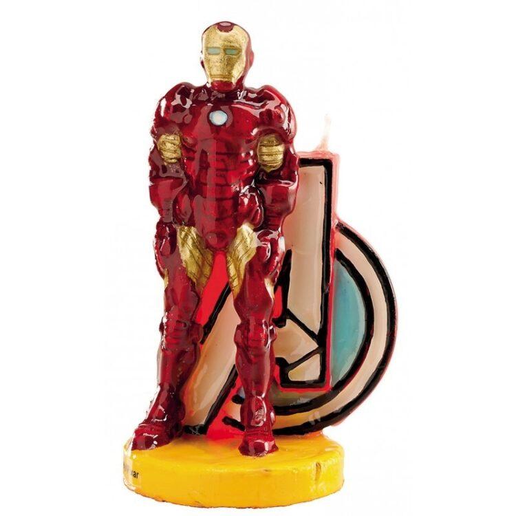 Candelina sagomata Iron Man