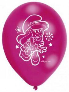 Confezione 6 palloncini in lattice Puffetta