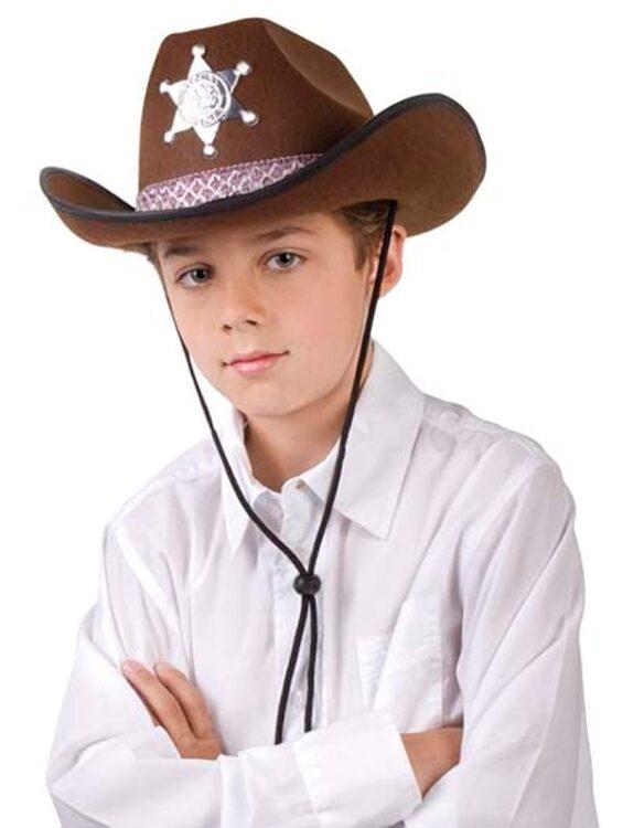 Cappello Cow Boy Sceriffo marrone