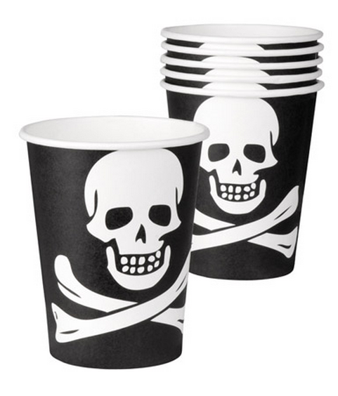 Bicchieri festa Teschio Pirati