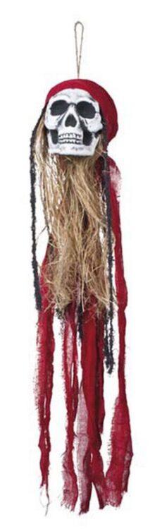 Decorazione teschio con capelli e bandana