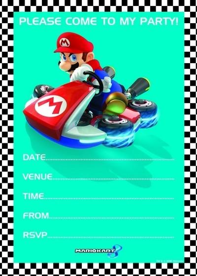 Inviti con busta Super Mario Kart