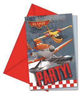 Inviti festa con busta Disney Planes 6pz