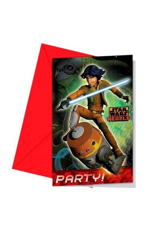 Inviti festa con busta Star Wars Rebels