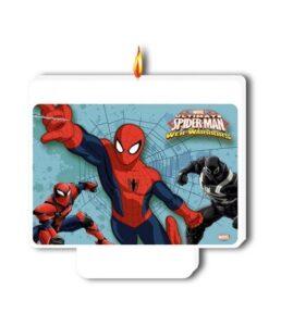 Candelina Spiderman Happy Birthday