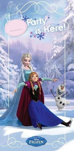 Festone porta Disney Frozen Ice Skating