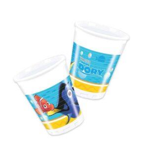 Dory - Confezione 8 bicchieri di plastica