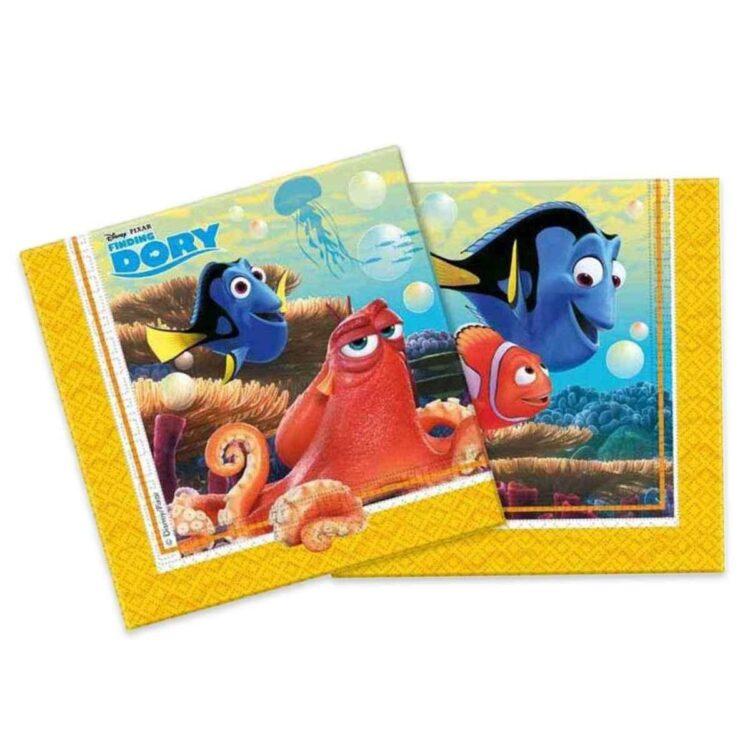 Dory e Nemo- Confezione 20 tovaglioli doppio velo.