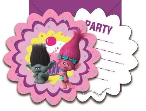 Trolls - Confezione 6 Inviti con busta