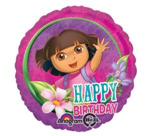 Palloncino ad elio Dora L'Esploratrice Happy Birthday