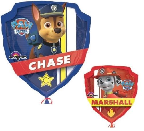 Palloncino in mylar Super Shape Paw Patrol double-face