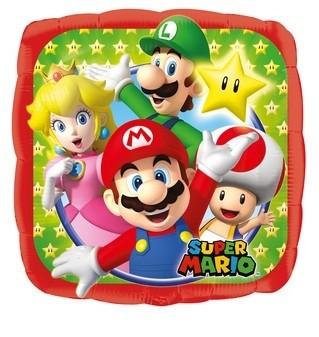 Palloncino quadrato Super Mario & Friends