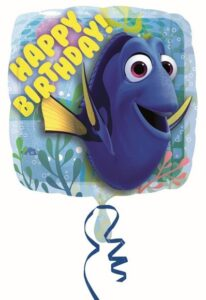 Dory - Palloncino quadrato in mylar Happy Birthday