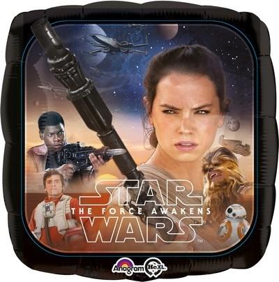 Palloncino quadrato ad elio Star Wars