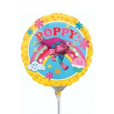 Trolls - Palloncino in Mylar Poppy 23 cm - si gonfia ad aria