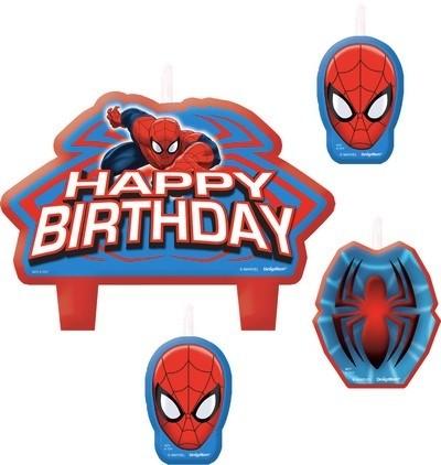 Set 4 candeline Spiderman Ultimate Power