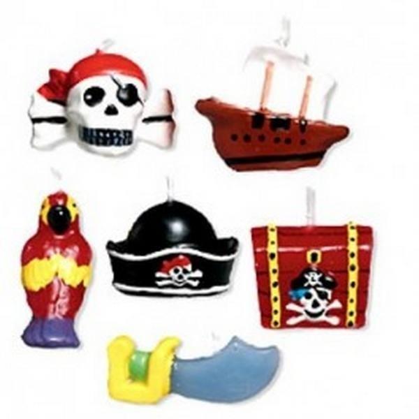 Mini candele torta Pirati
