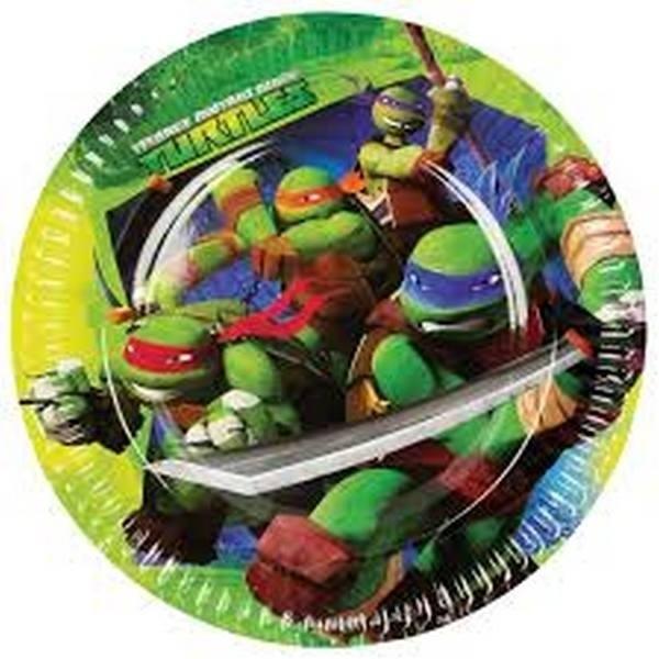 Piatti festa Tartarughe Ninja Mutanti 8pz
