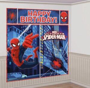 Scenografia per festa a tema Spiderman