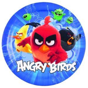 Confezione 8 piatti in cartoncino Angry Birds Movie