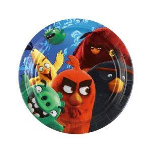 Piattini torta Angry Birds Movie