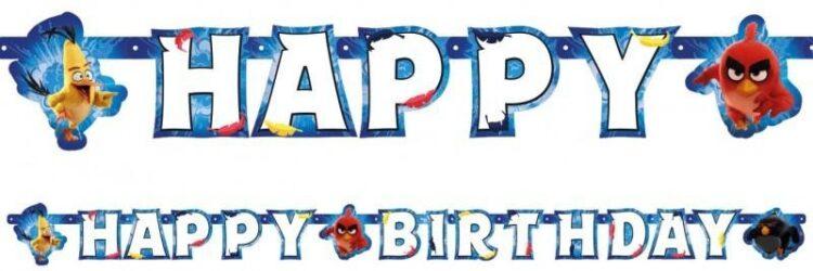 Festone Happy Birthday Angry Birds Movie