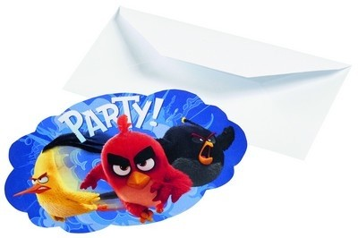 Inviti festa con busta Angry Birds Movie
